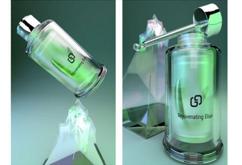 Mock-up of packaging design