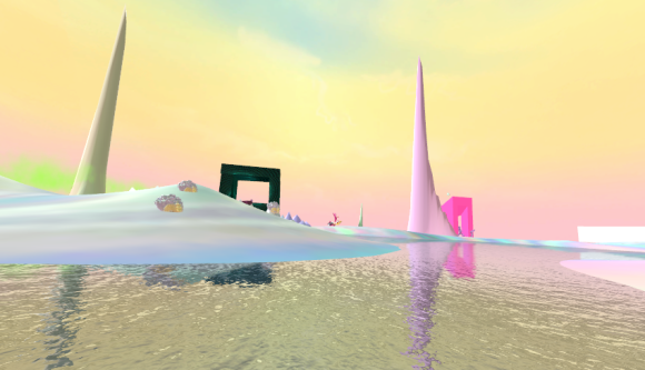 computer animated pastel scenery (mythical)