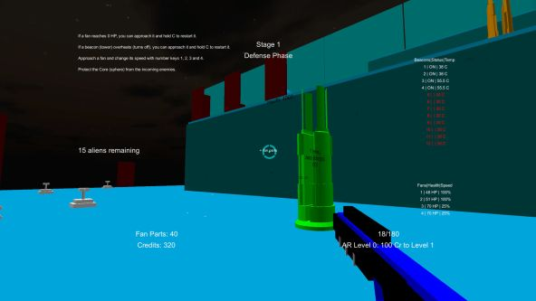 Still from a computer game, first-person shooter