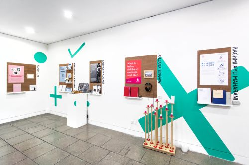 Exhibition view of the 2018 Degree Show for MA Design Management and Cultures