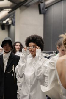 Backstage at MA19 Womenswear