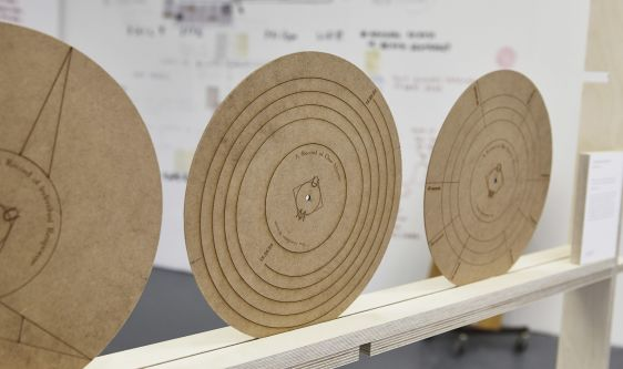 Diagrams on cork circles by Huan Tsen.