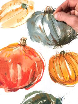 Illustration of pumpkins.