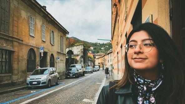 Jenny Mirez standing on a street