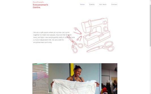 Website design for Southwark Everywoman's Centre