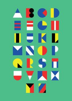 Poster of the alphabet on a green background