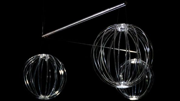 One of the Material Futures project outcomes for Swarovski - shining globes