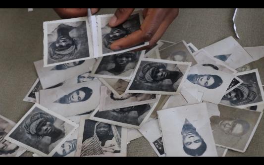 cutting up photos