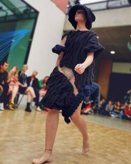 Model walking the catwalk
