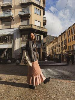 Jenny Mirez on sunlit street