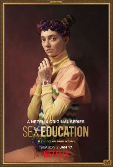 A promotional portrait of Lily from the Netflix series, Sex Education.