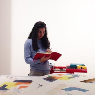 Ana Teles in the studio