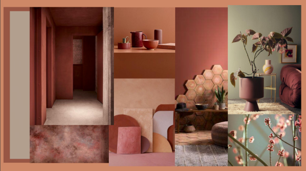 moodboard of an interior design project