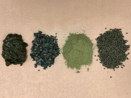 Four textured powders