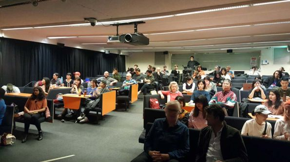 audience in lecture theatre