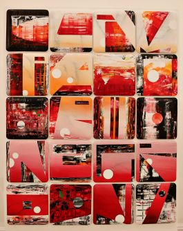 The winning artwork selected for Campari Creates - Codex Campari by Fine Art graduate Rupert Whale