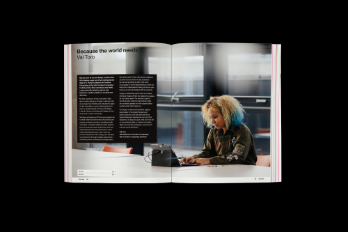 Mock-up of a student feature for the UAL prospectus