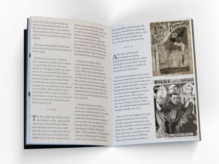 Double-page spread of publication Creepy Ramen.