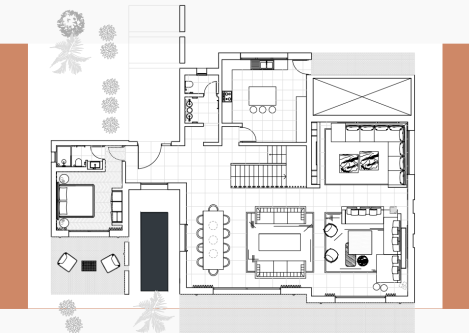 technical drawings of a home for an interior design project