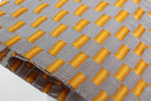 Orange and grey fabric