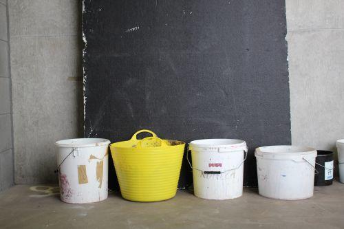 Row of buckets