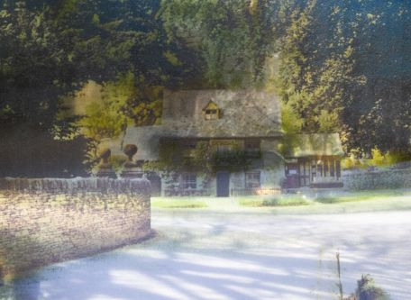 Overlaid images of a village