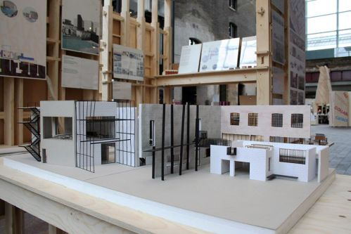 An architectural models on display.