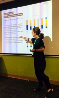 Course leader Bethan Alexander presenting at Advance HE conference