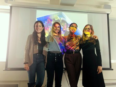 Student group presenting a powerpoint