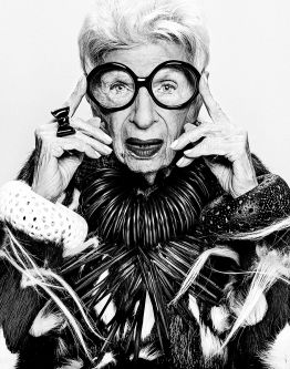 Iris Apfel wearing Sarah King's jewellery.