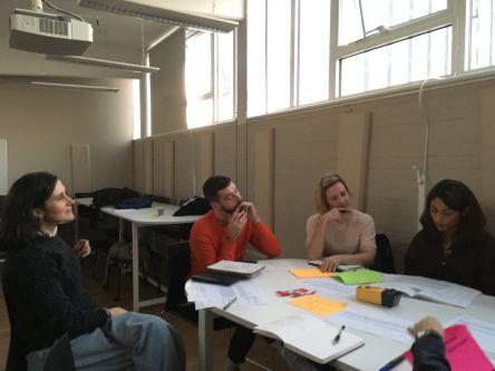 Workshop participants around a table