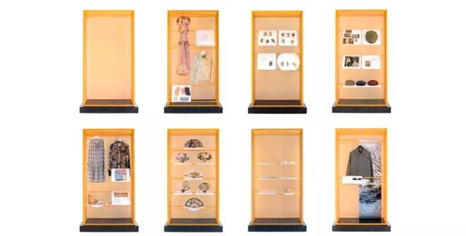 Cabinet Stories by Alison Moloney - a picture of 8 stacked cabinets containing objects