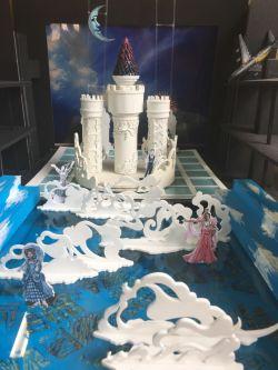Castle and aeroplane