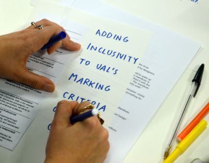 Workshop Images - writing on paper