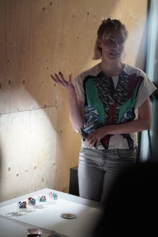 Brigitte Kock presenting her work