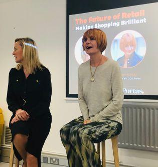Fashion retail expert Mary Portas presenting