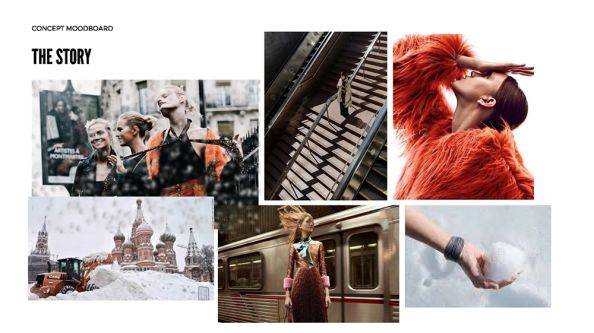 Tutor example of a mood board which can be created upon Schelay McCarter's course.
