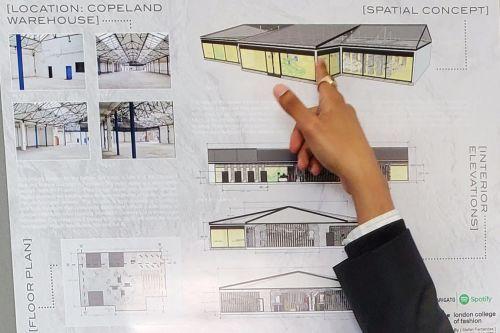 Student work by Stefan Fernandes showing building designs