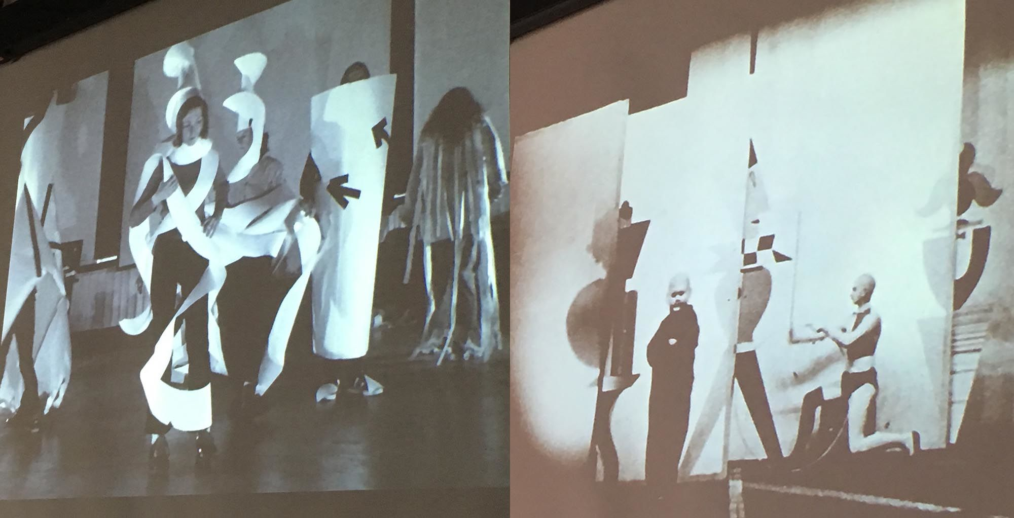 Scenes from Xanti Schawinsky's Play Life Illusion as shown to students during an Open Stage programme workshop at Camberwell in the autumn term.