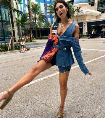 Nathalie Ballout Dua Lipa Instagram outfit