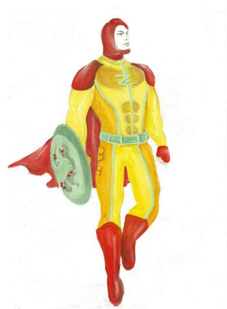 The design for Captain Z's costume