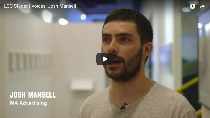 Student Voices: Josh Mansell – MA Advertising