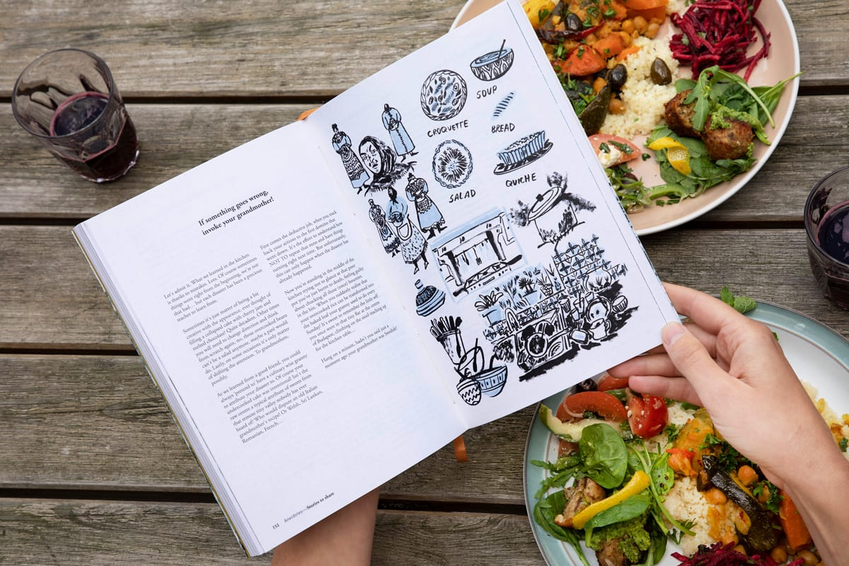 Delicious recipes and beautiful illustrations: students and staff produce collaborative cookbook 'The Elephant's Secret Kitchen'