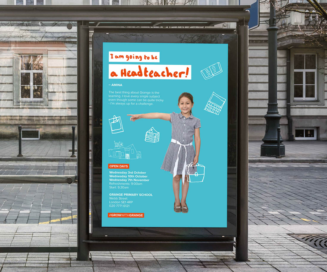 MA Graphic Branding and Identity students produce promotional campaign for local Southwark school