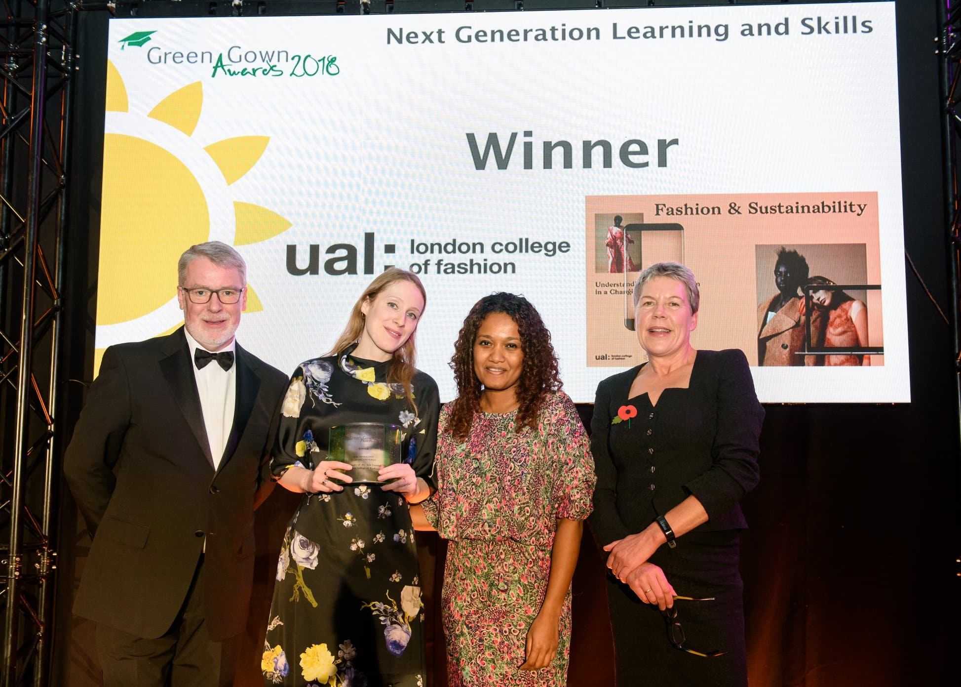 Sustainability success for UAL with two Green Gowns, a commendation and five nominations