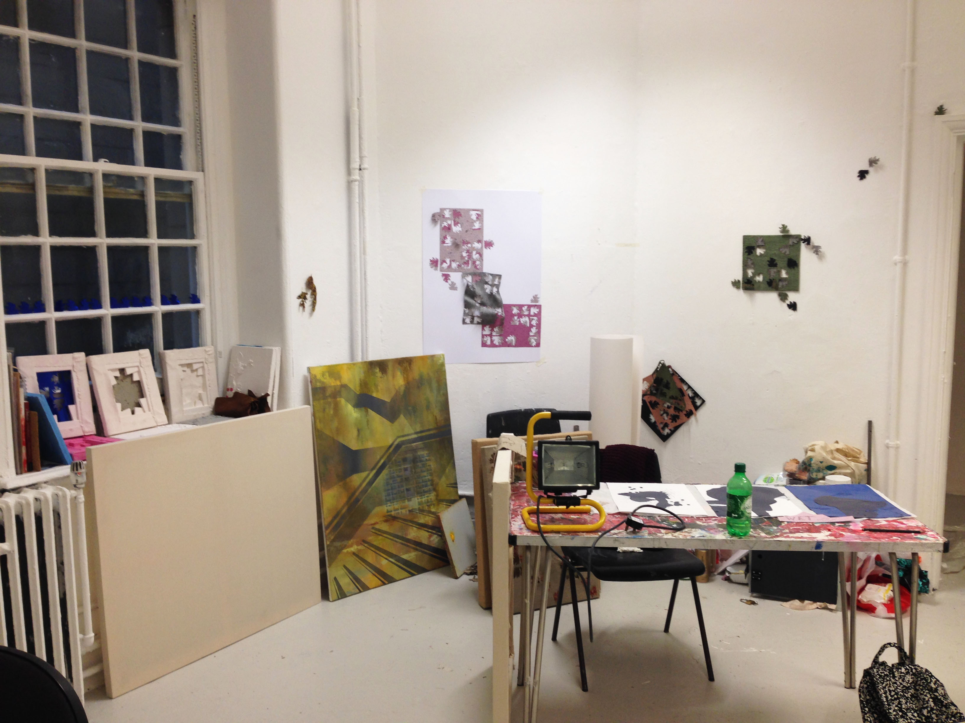 Sarah Porter's studio space, image courtesy of the artist