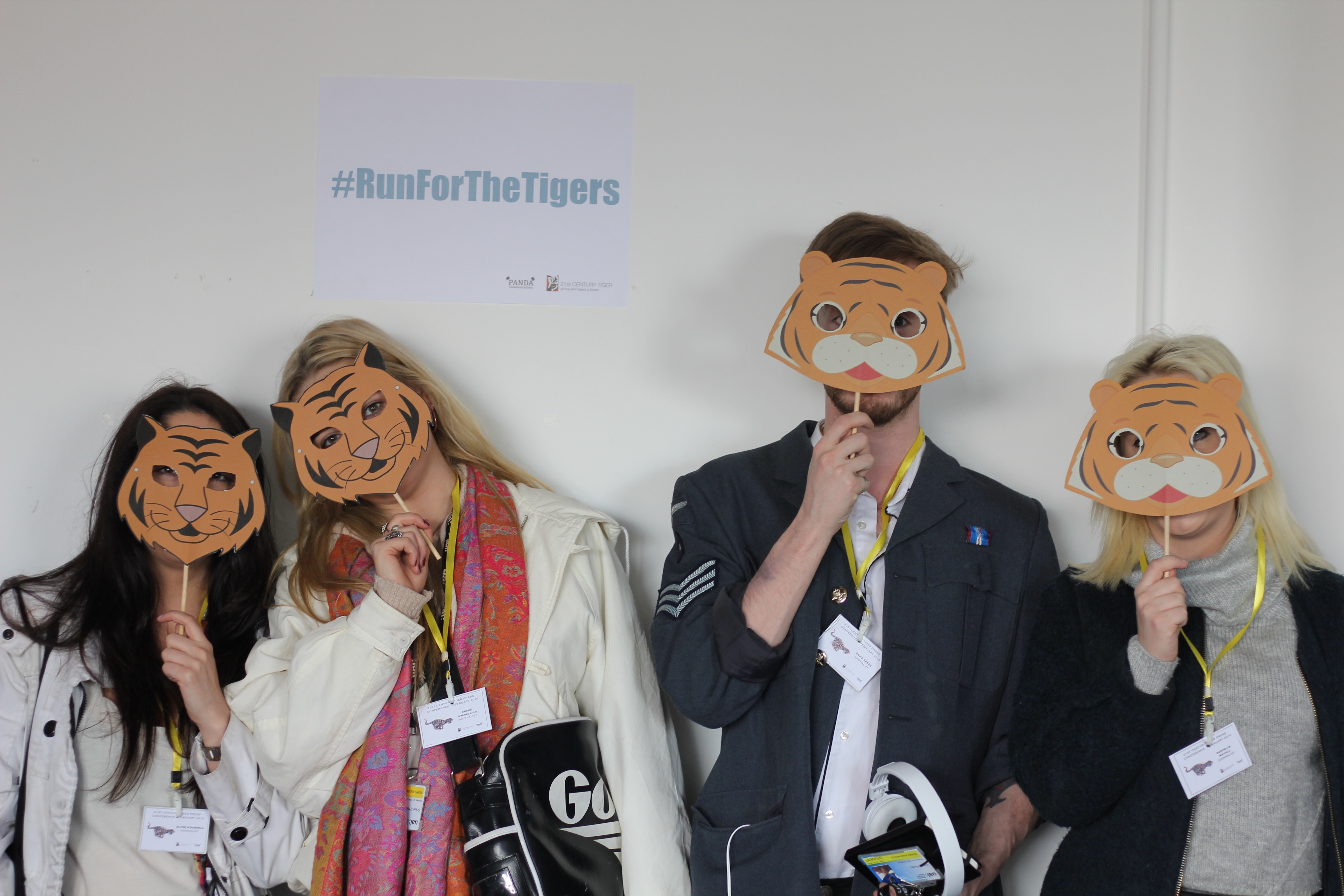 PR students support the 'Tiger Champions' conservation campaign.
