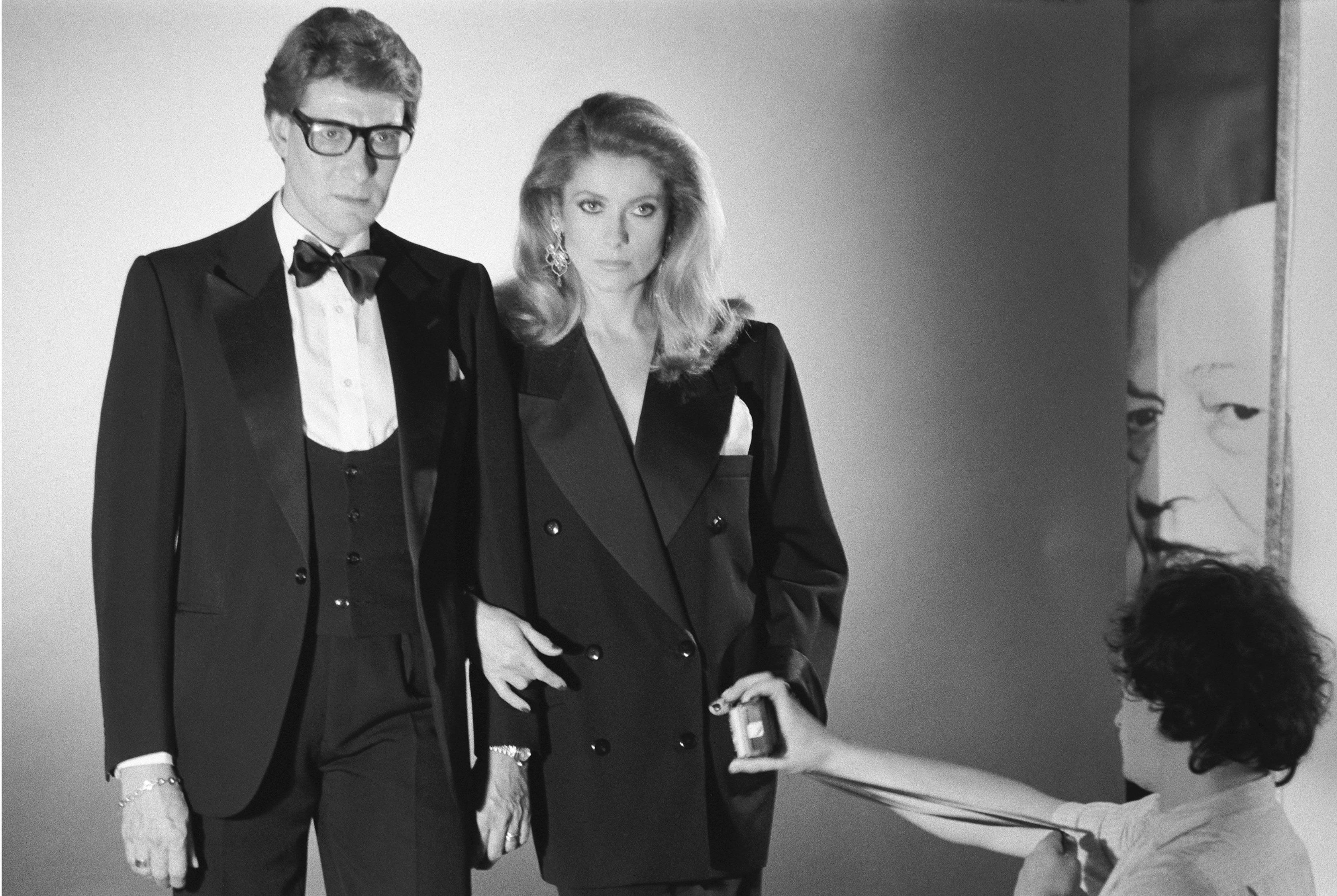 Portrait of Yves Saint Laurent and Catherine Deneuve