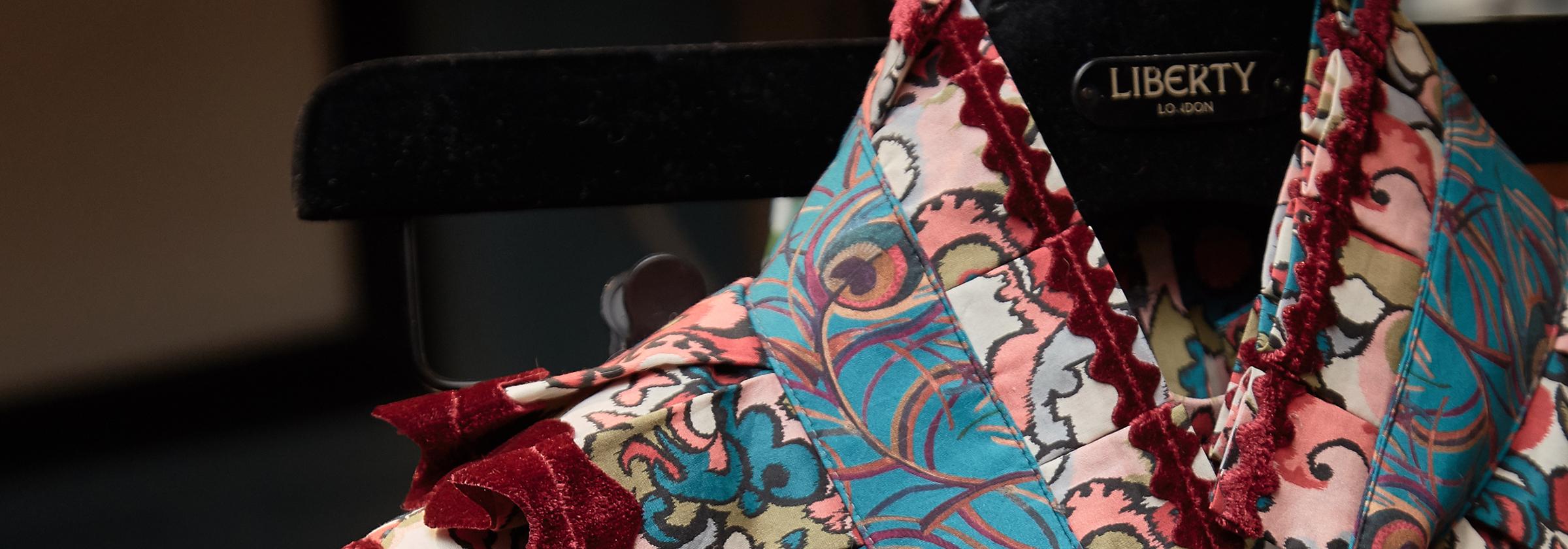 Close up of Liberty Print Collar