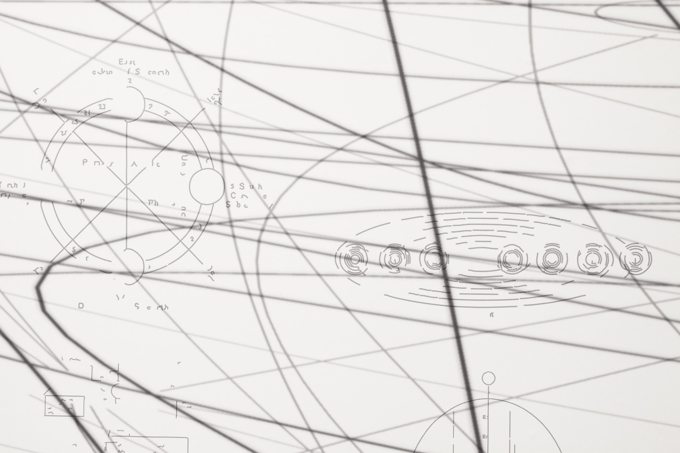 Matthew Ritchie, The Temptation of the Diagram (detail), 2017